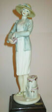 """Giuseppi Armani Damina Con Cappelliere """"Mabel"""" 0691C statue painted in color"""