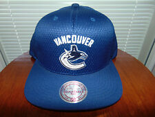 2016 Mitchell & Ness VANCOUVER CANUCKS Snapback BLUE NHL Hockey Hat Cap NEW NWT