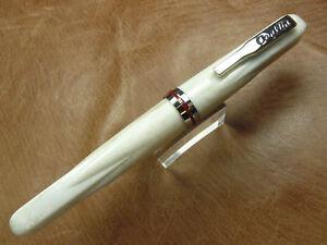 CONKLIN EMPIRE STARDUST WHITE FOUNTAIN PEN FINE STEEL NIB NEW/BOX/WARRANTY