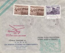 AVIATION : 1959 ARGENTINA HELICOPTER MAIL-Buenos Aires to Rosario -cachets