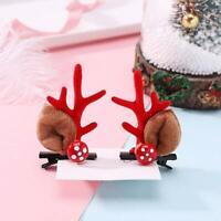 1 Paar Frauen Weihnachtsgeweih Haarspangen Xmas Deer Haarnadel Horns C4J9