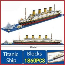 1860 pcs Titanic Cruise Ship Building Bricks Blocks Set 3D Boat Model Toys lepin