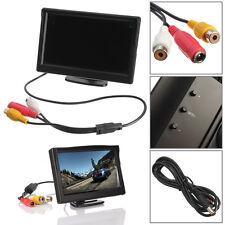 "5"" TFT LCD Rear View Monitor With Stand Reverse Backup Camera CAM DVR HD AV1/V2"