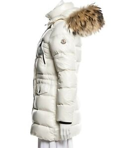 AUTHENTIC MONCLER PUFFER COAT WITH FUR-TRIMMED SIZE2