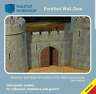 28mm MEDIEVAL FORTIFIED CASTLE WALL GATE TABLETOP WORKSHOP NEW