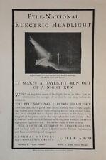 1902 AD(H5)~PYLE-NATIONAL ELECTRIC LOCOMOTIVE HEADLIGHT. MONADNOCK BLOCK,CHICAGO