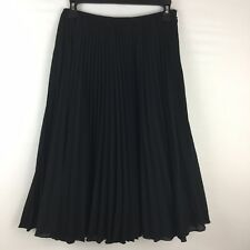 MOSCHINO CHEAP AND CHIC PLEATED LINED BLACK SKIRT USA 12, I 46, D 42, F42, GB 14