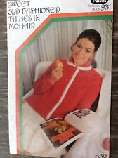 Vintage Patons Knitting & Crochet Bk 931 Sweet Old Fashioned Things in Mohair
