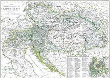 150 Jahre alte Landkarte K.u.K. ÖSTERRREICH 🇦🇹🇭🇺 Ungarn Donaumonarchie 1871