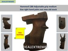 Hammerli 280 Adjustable grip medium size right hand palm rest new old stock