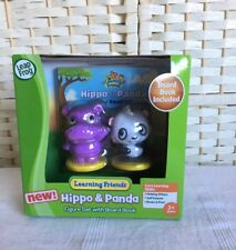 Leap Frog Learning Friends Hippo And Panda Figure Set With Board Book NEW