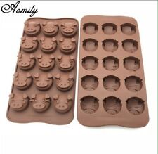Funny Pig Face Mould Sugarcraft Fondant Icing Cake Decorating Silicone UK