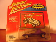 JOHNNY LIGHTNING Commuter Purple The Lost Toppers Die Cast Metal + Patch M.O.C.
