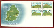 MOUNTAINS OF MAURITIUS OFFICIAL FIRST DAY COVER&LEAFLET,UNADDRESS,MINT.11.3.2004