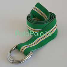 New $75 USA Polo Ralph Lauren Chrome D Ring Grosgrain Belt S