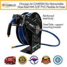 "Chicago Air CAHR15M 15m Retractable Hose Reel With 3/8"" PVC Flexible Air Hose"