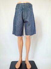 Tommy Hilfiger Mens Distress Custom Hand cut-off rework Jeans Shorts Pants AR6