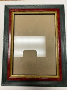 "Elsa L Inc Picture Photo Frame 5""x7"" Gold Trim, Burgundy, Green Tiered Beautiful"