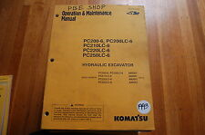 KOMATSU PC200 210 220 250 Crawler Excavator Owner Operator Operation Manual 1993
