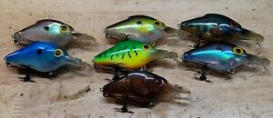Set of 7 Pre Rapala Storm Lightnin Shad Crankbaits Flash Crawdad