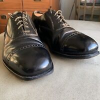 Florsheim Oxford captoe black dress shoes 9