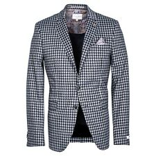 Giordano 822620 Col 91 Blue & Grey Hounds Tooth Jacket