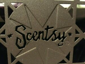 Vintage Scentsy Square Warmer Stand Trivet Brown Bronze Square NIB