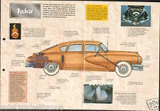 La Tucker '48 Preston Tucker 6 Cyl. Berline 1948 USA Car Auto FICHE FRANCE