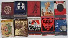 Lot of 10 Front Strike Match Books Girlie Santa Fe Whiskey Pittsburgh