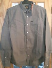 """NEW Superdry Men's  Ultimate Hounds L/S Shirt  lead hounds SIZE L - UK 40"""""""