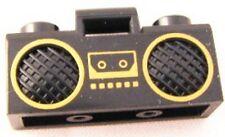 LEGO - Minifig, Utensil Radio Boom / Box with Handle - Black