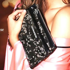 Victoria's Secret Exclusive BLACK & SILVER Sequin clutch purse Classic VS Charm
