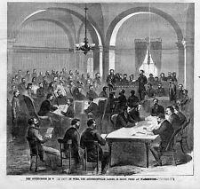 LAWYER, COURTROOM, ANDERSONVILLE JAILER TRIED AT WASHINGTON IN 1865 COURT PRINT