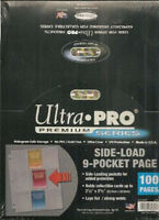 100 ULTRA PRO Premium 9 Pocket Side Load Pages Sheets New in Box