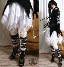 Goth Punk 4-TIER Fairy Kei BAT WING+Cobweb WHITE Skirt