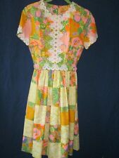 Lilly Pulitzer Vintage Patch Hostess Dress 1960 Veggies Floral Pink The Lilly