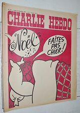 CHARLIE HEBDO N°214 23/12 1974 WOLINSKI CAVANNA CHORON REISER GEBE WILLEM CABU