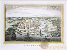Saint Domingue Old print Santo Domingo West Indies Bellin 1754