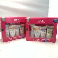 REN Clean Skincare 4 Pieces.each(Moisturizer,Treatment,Mask & Treatment)LOT OF 2