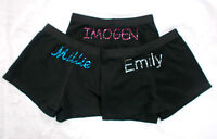 New LILAC LIZARD LYCRA gymnastic SHORTS (leotard) PERSONALISED name, all sizes