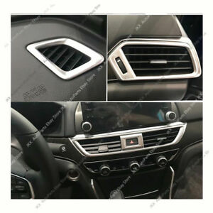 5pcs Dashboard Front Air Vent Outlet Cover Trim Kit k for Honda Accord 2018 2020