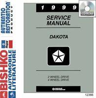 Bishko OEM Digital Repair Maintenance Shop Manual CD for Dodge Truck Dakota 1999