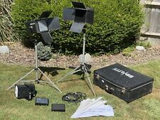 BOWENS BOLITE 3 HEAD FLASH KIT Photography Lights With CASE & STANDS Etc
