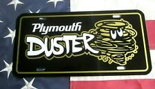 Black Plymouth Duster license plate car tag 1970 1971 1972 1973 1974 1975 1976