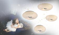Plafonnier Luminaire de plafond applique murale verre blanc rayé métal LED