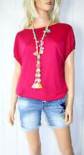 Cora kemperman Diseñador T Camisa de tamaño S Tencel FUCSIA %%%