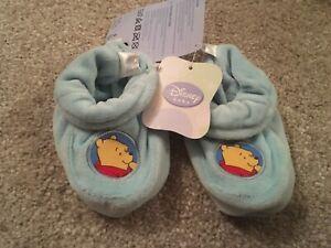 Disney Baby Soft Pram Shoe Slipper Winnie the Pooh Size 12-24 months