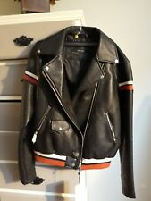 NWT Zara Black Leather Jacket Size Medium