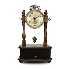 2-in-1 Retro Vintage Style Grandfather Clock & Bluetooth Stereo Speaker System