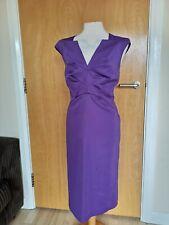 Ladies Dress Size 16 TEATRO Purple Satin Wiggle Pencil Party Evening Wedding